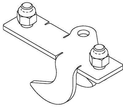 3M™ DBI-SALA® SecuraSpan™ Perpendicular I-Beam HLL Stanchion Intermediate Bracket 7400089, Order Separately, 1 ea