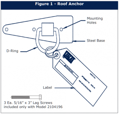 3M™ DBI-SALA® Reusable Compact Roof Anchor 2103677, 1 EA 3M Product Number 2103677,