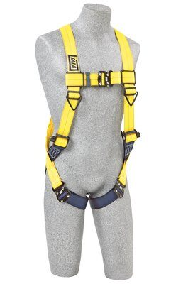 3M™ DBI-SALA® Delta™ Vest-Style Harness 1110600, Universal, 1 EA 3M Product Number 1110600, 3M ID 70007707022 FRONT WITH MANIKIN