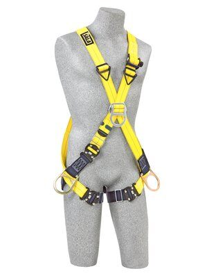 3M™ DBI-SALA® Delta™ Cross-Over Style Positioning/Climbing Harness 1110725, Universal, 1 EA 3M Product Number 1110725, 3M ID 70007417044 - FRONT WITH MANIKIN
