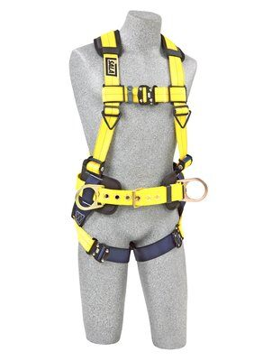 3M™ DBI-SALA® Delta™ Construction Style Positioning Harness 1110577, Large, 1 EA 3M Product Number 1110577, 3M ID 70007421491 FRONT WITH MANIKIN