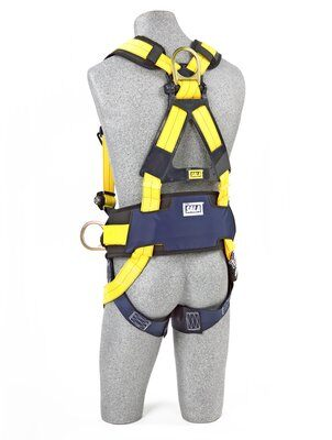 3M™ DBI-SALA® Delta™ Construction Style Positioning Harness 1110577, Large, 1 EA 3M Product Number 1110577, 3M ID 70007421491 BACK WITH MANIKIN