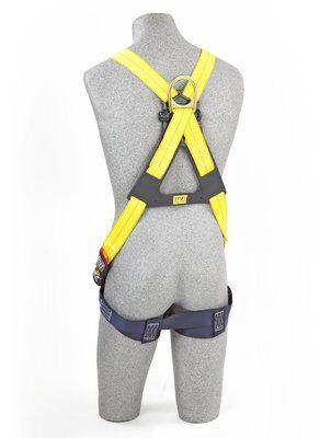 3M™ DBI-SALA® Delta™ Cross-Over Style Climbing Harness 1102010, Universal, 1 EA 3M Product Number 1102010, 3M ID 70007700241 - BACK WITH MANIKIN