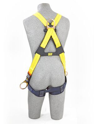 3M™ DBI-SALA® Delta™ Cross-Over Style Positioning/Climbing Harness 1103270, Universal, 1 EA 3M Product Number 1103270, 3M ID 70007700092 BACK WITH MANKIN
