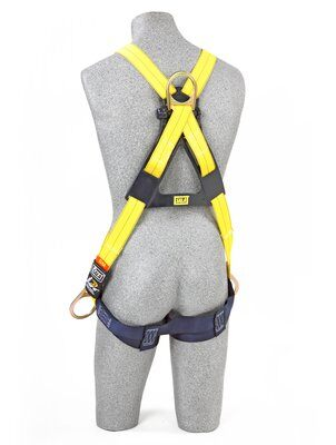 3M™ DBI-SALA® Delta™ Cross-Over Style Positioning/Climbing Harness 1110725, Universal, 1 EA 3M Product Number 1110725, 3M ID 70007417044 - BACK WITH MANIKIN