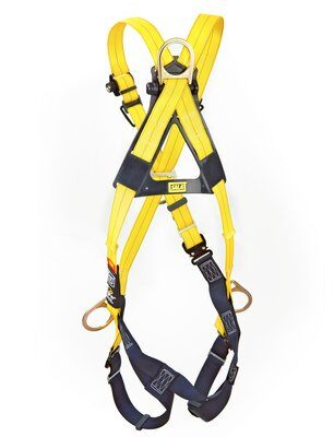 3M™ DBI-SALA® Delta™ Cross-Over Style Positioning/Climbing Harness 1110725, Universal, 1 EA 3M Product Number 1110725, 3M ID 70007417044 - BACK WITHOUT MANIKIN