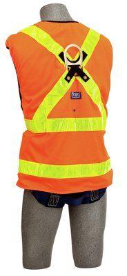 3M™ DBI-SALA® Delta Vest™ Hi-Vis Reflective Workvest Harness 1107404, Universal, 1 EA 3M Product Number 1107404, 3M ID 70007413589 BACK