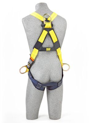 3M™ DBI-SALA® Delta™ Vest-Style Positioning Harness 1110625, Universal, 1 EA 3M Product Number 1110625, 3M ID 70007416988 BACK WITH MANIKIN