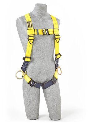 3M™ DBI-SALA® Delta™ Vest-Style Positioning Harness 1110625, Universal, 1 EA 3M Product Number 1110625, 3M ID 70007416988 FRONT WITH MANIKIN