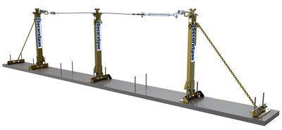 3M™ DBI-SALA® SecuraSpan™ Rebar/Shear Stud Horizontal Lifeline System 7400640, Alows for multi-span configurations of unlimtied lengths