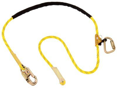 3M™ DBI-SALA® Pole Climber's Adjustable Rope Positioning Lanyard 1234070 - 8 ft. (2.4m) adjustable rope positioning lanyard with snap hook at one end, rope adjuster and carabiner at other end.
