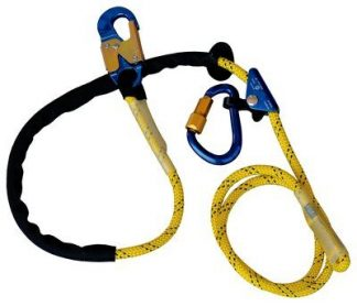 3M™ DBI-SALA® Pole Climber's Adjustable Rope Positioning Lanyard 1234071, 1 EA - 8 ft. (2.4m) adjustable rope positioning lanyard with rope adjuster and aluminum carabiner and snap hook.