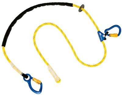 3M™ DBI-SALA® Pole Climber's Adjustable Rope Positioning Lanyard 1234080, 1 EA - 8 ft. (2.4m) adjustable rope positioning lanyard with aluminum carabiner at one end, rope adjuster and aluminum carabiner at other end.