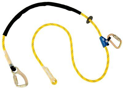 3M™ DBI-SALA® Pole Climber's Adjustable Rope Positioning Lanyard 1234081, 1 EA - 8 ft. (2.4m) adjustable rope positioning lanyard with steel carabiner at one end, rope adjuster and steel carabiner at other end.