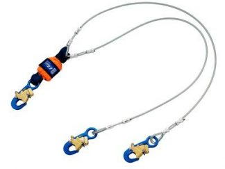3M™ DBI-SALA® EZ-Stop™ Leading Edge 100% Tie-Off Cable Shock Absorbing Lanyard 1246068, Orange, 6 ft. (1.8m), 1 EA 3M Product Number 1246068, 3M ID 70007434247