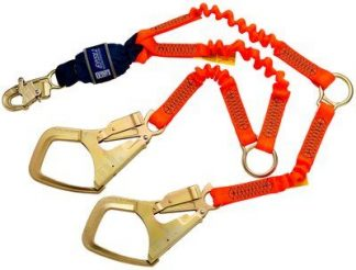 3M™ DBI-SALA® Force2™ Hi-Vis Elastic 100% Tie-Off Shock Absorbing Lanyard 1246150, 1 EA 3M Product Number 1246150, 3M ID 70007446092
