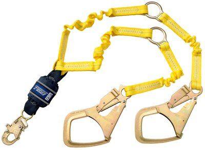 3M™ DBI-SALA® Force2™ Hi-Vis Elastic 100% Tie-Off Shock Absorbing Lanyard 1246152, 1 EA 3M Product Number 1246152, 3M ID 70007434569