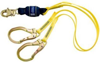 3M™ DBI-SALA® Force2™ 100% Tie-Off Shock Absorbing Lanyard 1246159, Yellow, 6 ft. (1.8m), 1 EA/Case 3M Product Number 1246159, 3M ID 70007434627