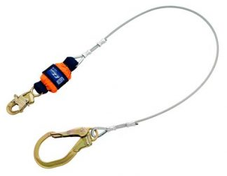 3M™ DBI-SALA® EZ-Stop™ Leading Edge Cable Shock Absorbing Lanyard 1246261, Orange, 6 ft. (1.8m), 1 EA 3M Product Number 1246261, 3M ID 70007446530