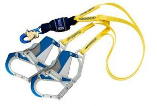3M™ DBI-SALA® Force2™ 100% Tie-Off Shock Absorbing Lanyard 1246413, Yellow, 1 EA 3M Product Number 1246413, 3M ID 70804440512