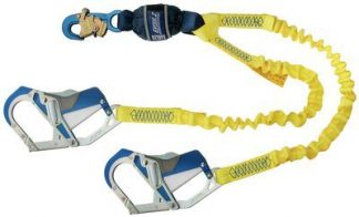 3M™ DBI-SALA® Force2™ Elastic 100% Tie-Off Shock Absorbing Lanyard 1246415, Yellow, 1 EA 3M Product Number 1246415, 3M ID 70804440538