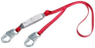 3M™ PROTECTA® PRO™ Pack Shock Absorbing Lanyard 1341001, 1 EA - 6 ft. (1.8m) web single-leg with snap hooks at each end.