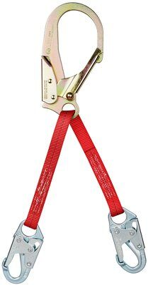 3M™ PROTECTA® PRO™ Web Rebar/Positioning Lanyard 1351050, 1 EA - 22 in. (56cm) web rebar assembly with steel rebar hook at center, snap hooks at leg ends.