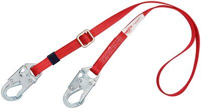 3M™ PROTECTA® PRO™ Adjustable Web Positioning Lanyard 1385301, 1 EA - 6 ft. (1.8m) single-leg with adjustable web and snap hooks at each end.