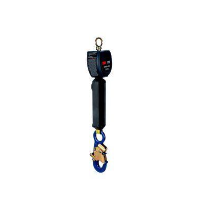 "6 ft. (1.8m) of 3/4"" (19mm) Dyneema® fiber and polyester web and aluminum snap hook on leg end, swiveling anchor loop. - 3M™ DBI-SALA® Nano-Lok™ Personal Self Retracting Lifeline, Single-leg, Web 3101210, 6 ft. (1.8m), 1 EA"