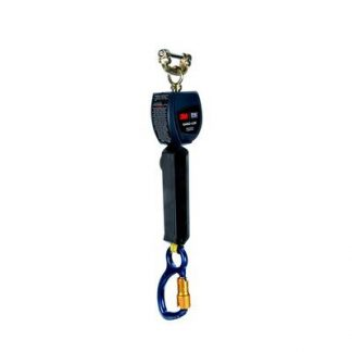 "M™ DBI-SALA® Nano-Lok™ Personal Self Retracting Lifeline, Single-leg, Web 3101225, 6 ft. (1.8m), 1 EA - 6 ft. (1.8m) of 3/4"" (19mm) Dyneema® fiber and polyester web and aluminum carabiner on leg end, speed connector for harness mounting."