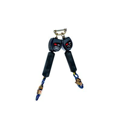 """3M™ DBI-SALA® Nano-Lok™ Personal Self Retracting Lifeline, Twin-leg, Web 3101276, 6 ft. (1.8m), 1 EA - 6 ft. (1.8m) twin-leg lifelines with 3/4"""" (19mm) Dyneema® fiber and polyester web and aluminum snap hooks, quick connector for harness mounting."""