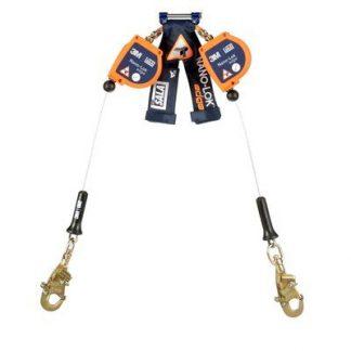 3M™ DBI-SALA® Nano-Lok™ edge Twin-Leg Quick Connect Self Retracting Lifeline 3500226, Orange, 8 ft. (2.4 m), 1 EA - 3M™ DBI-SALA® Nano-Lok™ edge Twin-Leg Quick Connect Self Retracting Lifeline 3500226, Orange, 8 ft. (2.4 m), 1 EA
