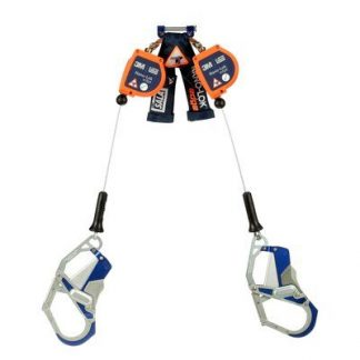 "3M™ DBI-SALA® Nano-Lok™ Edge Twin-Leg Quick Connect Self Retracting Lifeline, Cable 3500257, Orange, 1 EA - 7.3 ft. (2.2m) twin-leg lifelines with 3/16"" (5mm) galvanized steel wire rope and aluminum Comfort Grip snap hooks, quick connector for harness mounting."