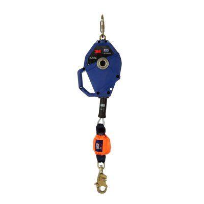 "3M™ DBI-SALA® Smart Lock Leading Edge Self-Retracting Lifeline 3503802, Galvanized Cable, Blue, 20 ft. (6m) 1 Ea/Case - 20 ft. (6m) of 7/32"" (5.5mm) galvanized steel cable lifeline"