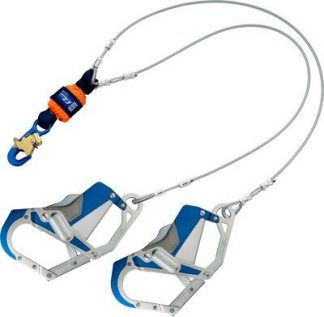 3M™ DBI-SALA® EZ-Stop™ Leading Edge 100% Tie-Off Cable Shock Absorbing Lanyard 1246412, Orange, 1 EA 3M Product Number 1246412, 3M ID 70804440504