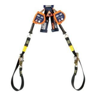 "3M™ DBI-SALA® Nano-Lok™ edge Twin-Leg Tie-Back Quick Connect Self Retracting Lifeline - Cable 3500228, Orange, 9 ft. (2.7 m), 1 EA - 9 ft. (2.7m) twin-leg tie-back lifelines with 3/16"" (5mm) galvanized steel wire rope and tie-back hooks, quick connector for harness mounting."