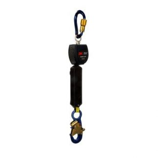 "3M™ DBI-SALA® Nano-Lok™ Self Retracting Lifeline with Anchor Hook, Single-leg, Web 3101214, 6 ft. (1.8m), 1 EA - 6 ft. (1.8m) of 3/4"" (19mm) Dyneema® fiber and polyester web and aluminum snap hook on leg end, swiveling anchor loop with aluminum carabiner."