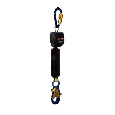 "3M™ DBI-SALA® Nano-Lok™ Self Retracting Lifeline with Anchor Hook, Single-leg, Web 3101214, 6 ft. (1.8m), 1 EA - 6 ft. (1.8m) of 3/4"" (19mm) Dyneema® fiber and polyester web and aluminum snap hook on leg end, swiveling anchor loop with aluminum carabiner."