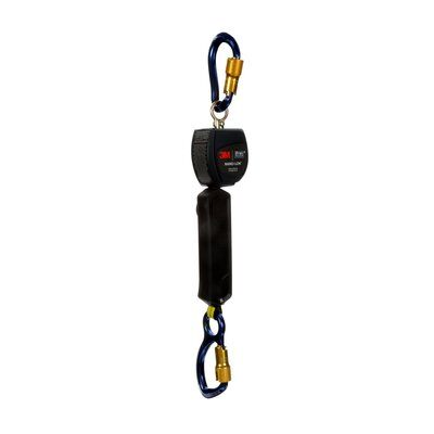 "3M™ DBI-SALA® Nano-Lok™ Self Retracting Lifeline with Anchor Hook, Single-leg, Web 3101235, 6 ft. (1.8m), 1 EA - 6 ft. (1.8m) of 3/4"" (19mm) Dyneema® fiber and polyester web and aluminum carabiner on leg end, swiveling anchor loop with aluminum carabiner."
