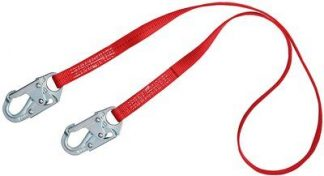 3M™ PROTECTA® PRO™ Web Positioning Lanyard 1385101, 1 EA - 6 ft. (1.8m) web single-leg with snap hooks at each end.