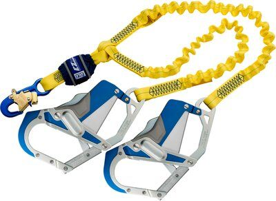 3M™ DBI-SALA® EZ-Stop™ 100% Tie-Off Shock Absorbing Lanyard 1246409, Yellow, 1 EA 3M Product Number 1246409, 3M ID 70804440470