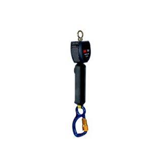"3M™ DBI-SALA® Nano-Lok™ Personal Self Retracting Lifeline, Single-leg, Web 3101211, 6 ft. (1.8m), 1 EA - 6 ft. (1.8m) of 3/4"" (19mm) Dyneema ® fiber and polyester web and aluminum carabiner on leg end, swiveling anchor loop."