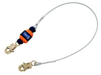 3M™ DBI-SALA® EZ-Stop™ Leading Edge Cable Shock Absorbing Lanyard 1246066, Orange, 6 ft. (1.8m), 1 EA 3M Product Number 1246066, 3M ID 70007444899