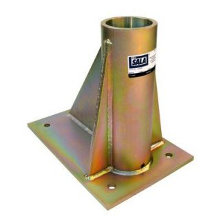 SecuraSpan™ bolt-on horizontal base for fasten-in-place post horizontal lifeline systems (fasteners not included).