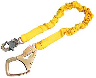 6 ft. (1.8m) single-leg with elastic web and snap hook at one end, Saflok-Max™ steel rebar hook at other end.