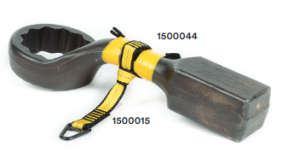 Use the 1500044 tool cinch to tie-back on itself to secure small-medium tools.