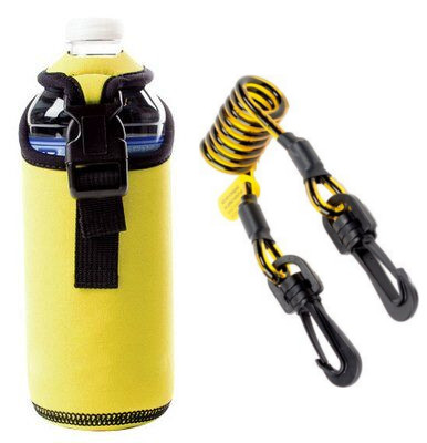 3M™ DBI-SALA® Spray Can/Bottle Holster with Clip2Clip Coil Tether 1500092 Spray can / water bottle holster with coil tether.