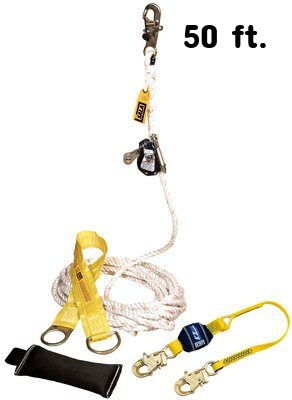 3M™ DBI-SALA® Lad-Saf™ Mobile Rope Grab Kit 5000400, 1 EA 3M Product Number 5000400, 3M ID 70007465852 - Mobile rope grab kit with rope grab, 3 ft. (0.9 m) shock absorbing lanyard, 50 ft. (15 m) rope lifeline, counterweight, tie-off adpator and carrying bag.