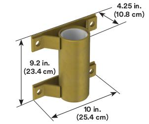 3M™ DBI-SALA® Confined Space Wall Mount Sleeve Davit Base 8516191, 1 EA 3M Product Number 8516191, 3M ID 70007495248