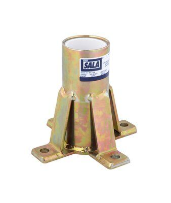 3M™ DBI-SALA® Confined Space Floor Mount Sleeve Davit Base 8516190, 1 ea 3M Product Number 8516190, 3M ID 70007495230 - Floor mount sleeve davit base, zinc plated, for confined space offset davit mast.